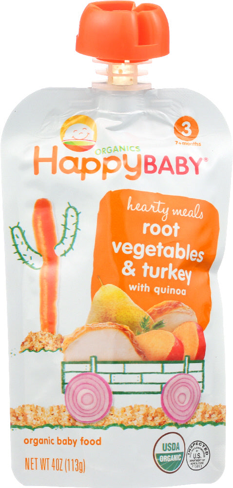 Happy Baby: Organic Baby Food Stage 3 Root Vegetables & Turkey With Quinoa, 4 Oz