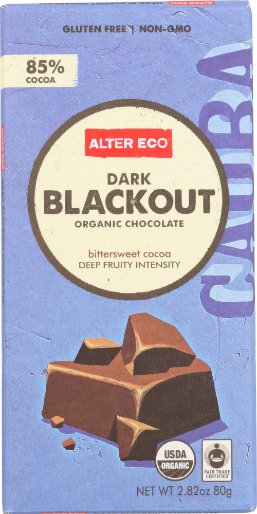 Alter Eco: Organic Chocolate Dark Blackout, 2.82 Oz