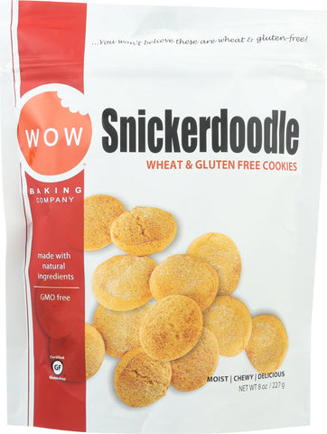 Wow Baking Company: Cookies Snickerdoodle, 8 Oz