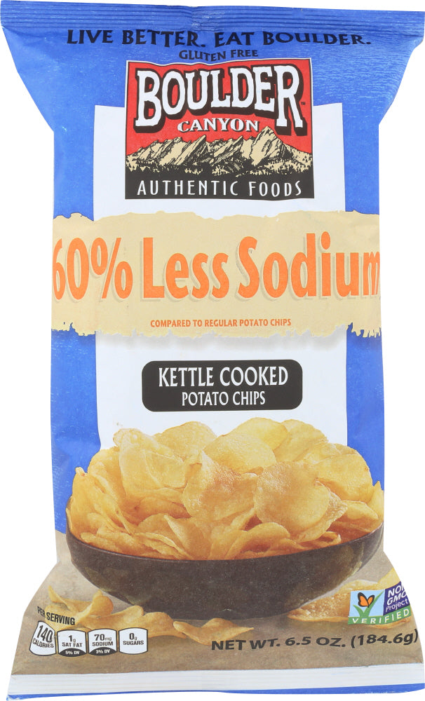 Boulder Canyon: 60% Reduced Sodium Kettle Cooked Potato Chips, 6.5 Oz