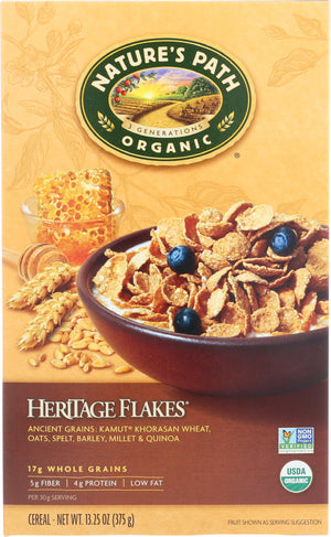 Natures Path: Organic Heritage Flakes Cereal Whole Grain, 13.25 Oz