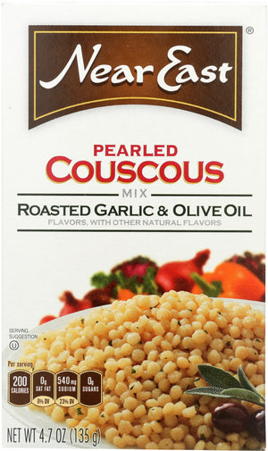 Near East: Pearled Coucous Mix Roasted Garlic And Olive Oil, 4.7 Oz
