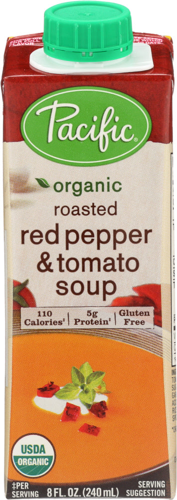 Pacific Natural Foods: Organic Roasted Red Pepper And Tomato Soup, 8 Oz