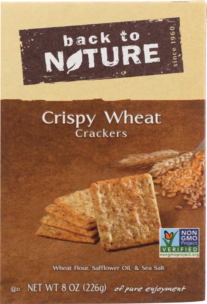 Back To Nature: Crackers Crispy Wheat, 8 Oz