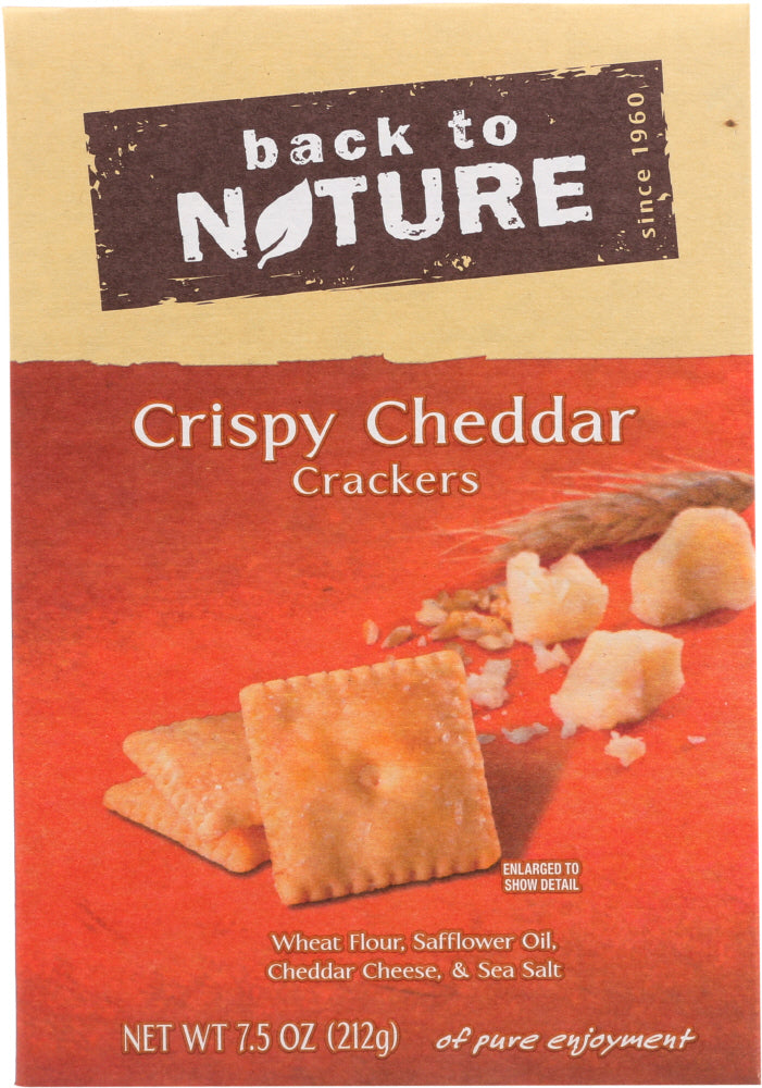 Back To Nature: Crispy Cheddar Crackers, 7.5 Oz