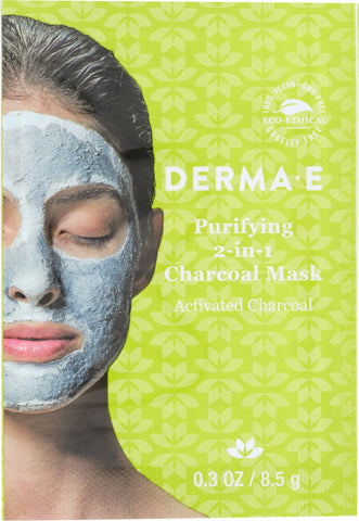 Derma E: Purifying 2-in-1 Charcoal Mask, .35 Oz
