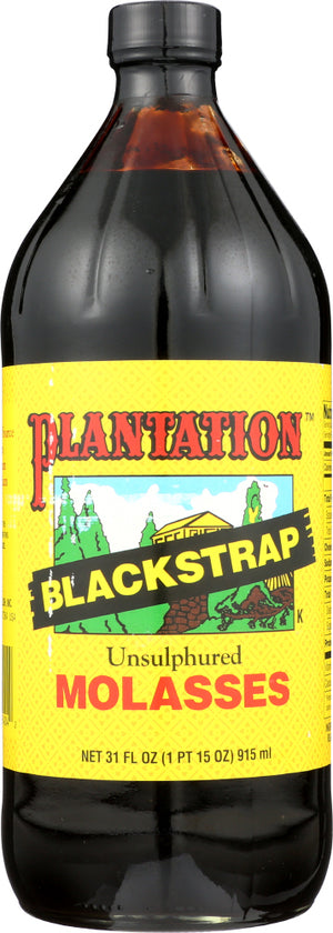 Plantation: Blackstrap Unsulphured Molasses, 31 Oz