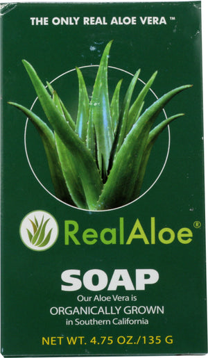 Real Aloe: Aloe Vera Bar Soap, 4.75 Oz
