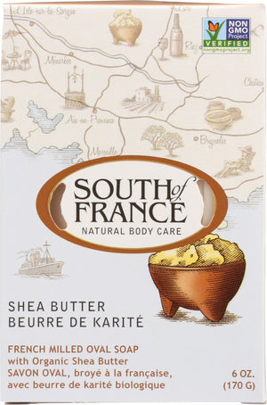 South Of France: French Milled Oval Soap Shea Butter, 6 Oz