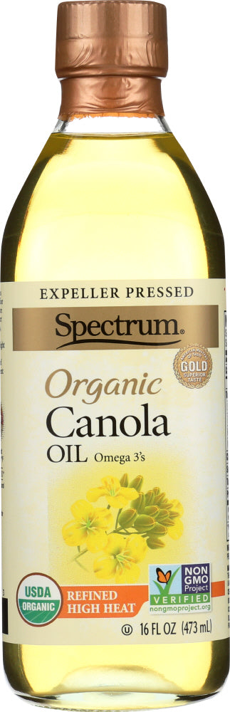 Spectrum Naturals: Organic Canola Oil Refined, 16 Oz