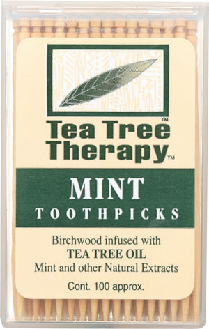 Tea Tree Therapy: Toothpicks Mint, 100 Toothpicks