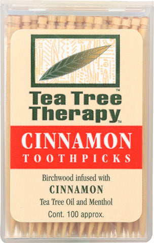 "Tea Tree Therapy"" Cinnamon Toothpicks, 100 Tootpicks"