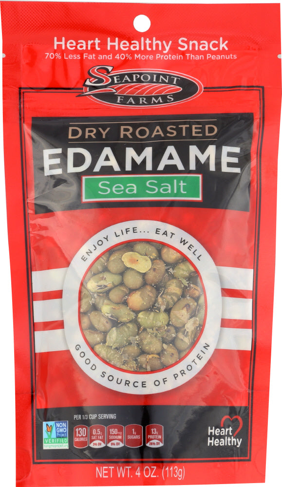 Seapoint Farms: Edamame Dry Roasted Sea Salt, 4 Oz
