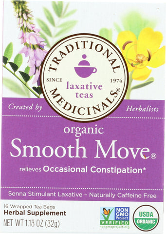Traditional Medicinals: Organic Smooth Move Herbal Tea 16 Tea Bags, 1.13 Oz