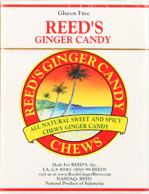 Reeds: Ginger Chew Candy Rolls, 2 Oz