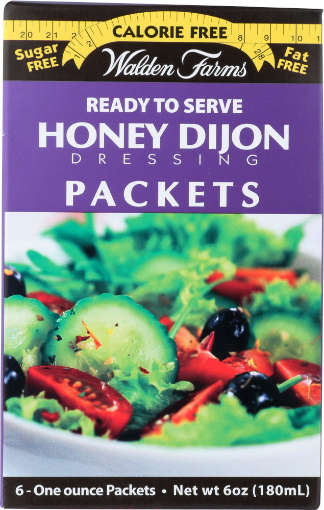 Walden Farms: Honey Dijon Dressing 6 Packets, 6 Oz