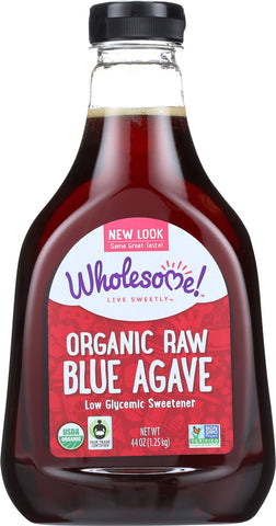 Wholesome Sweeteners: Organic Raw Blue Agave, 44 Oz