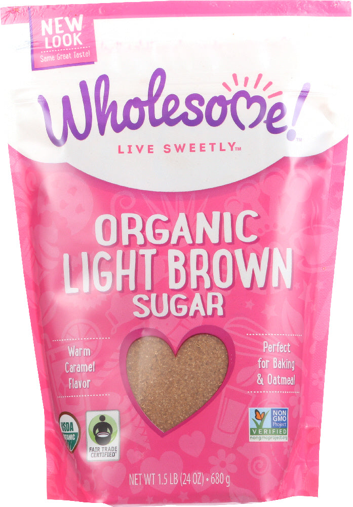 Wholesome Sweeteners: Organic Light Brown Sugar, 24 Oz