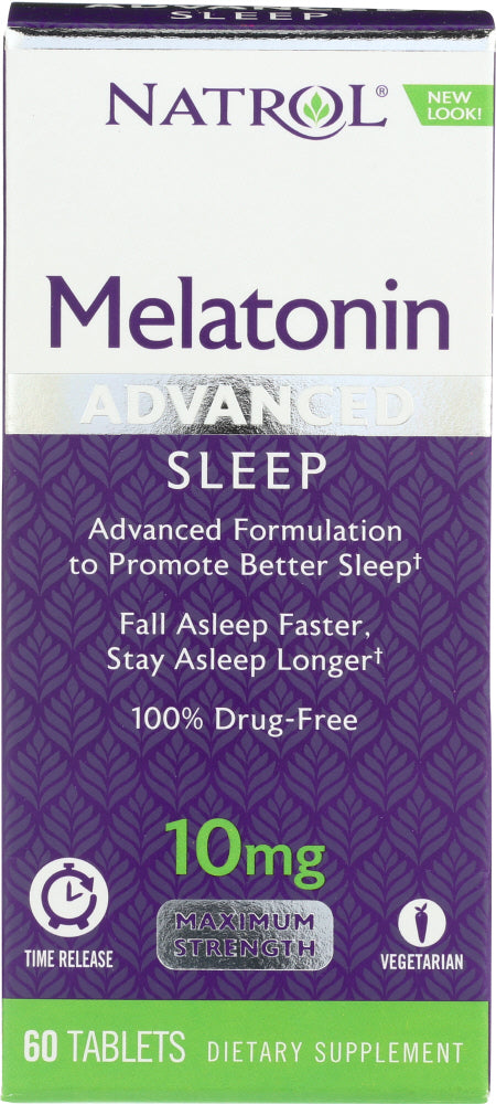 Natrol: Advanced Sleep Melatonin 10 Mg, 60 Tablets