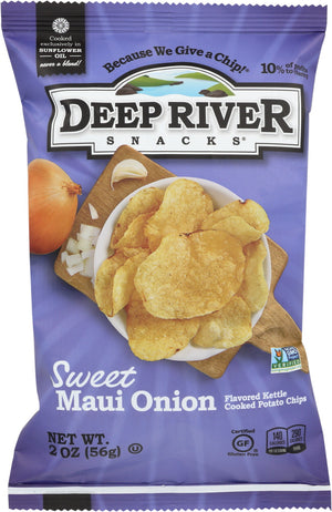 Deep River: Kettle Cooked Potato Chips Sweet Maui Onion, 2 Oz