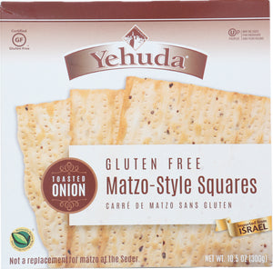 Yehuda: Gluten Free Matzo Style Crackers With Toasted Onion, 10.5 Oz
