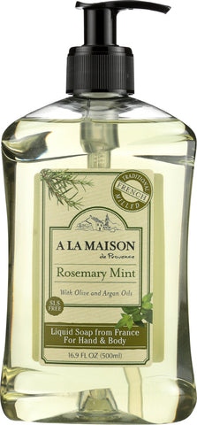 A La Maison: Soap Liquid French Rosemary Mint, 16.9 Fo