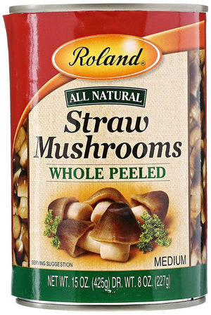 Roland: Peeled Straw Mushrooms, 15 Oz