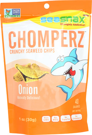 Sea Snax: Seaweed Chips Chomperz Onion, 1 Oz