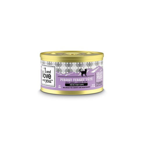 I&love&you: Purrky Turkey Pate Cat Food Can, 3 Oz