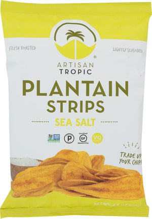 Artisan Tropic: Plantain Strips Sea Salt, 4.5 Oz