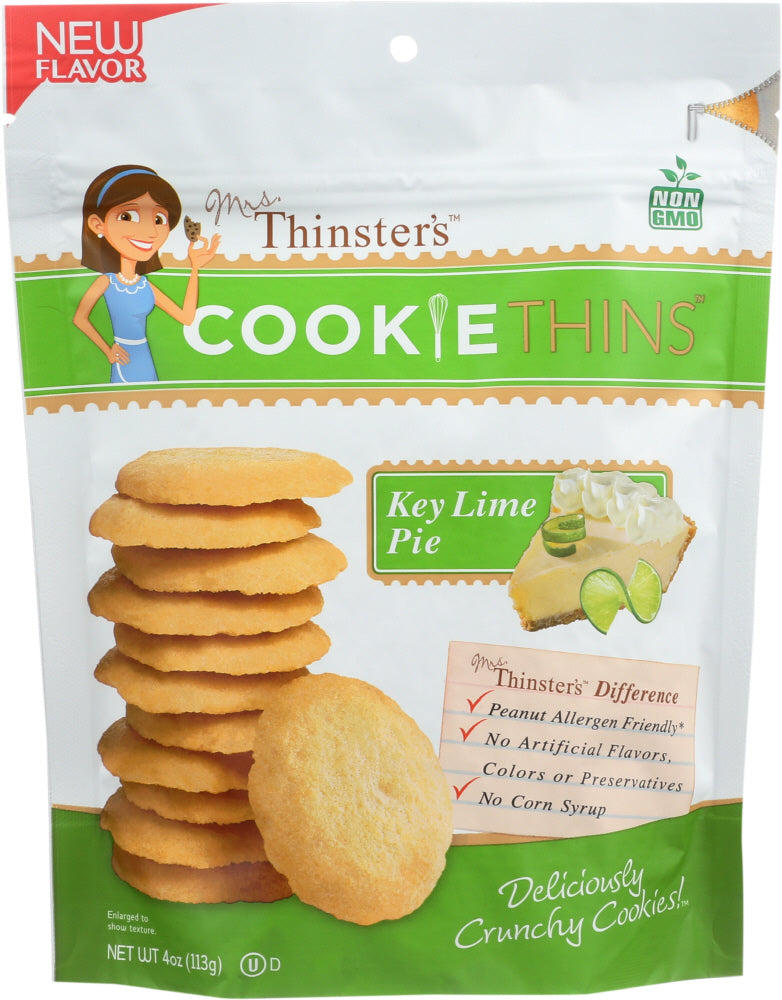 Mrs Thinsters: Cookie Thins Key Lime Pie, 4 Oz
