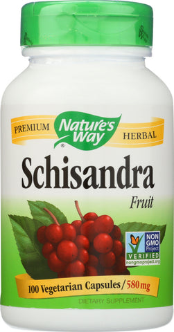 Natures Way: Schisandra Fruit 100 Vegetarian, 100 Cp