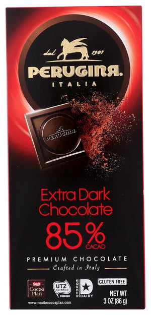 Perugina: Extra Dark Chocolate 85% Cacao Bar, 3 Oz