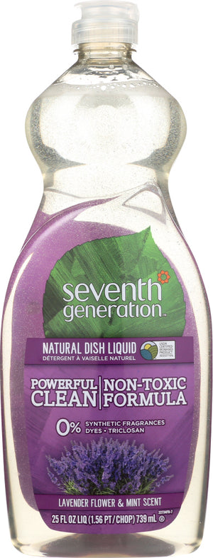 Seventh Generation: Dishwashing Liquid Lavender, 25 Oz