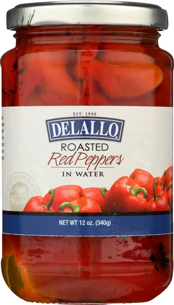 Delallo: Roasted Red Peppers, 12 Oz