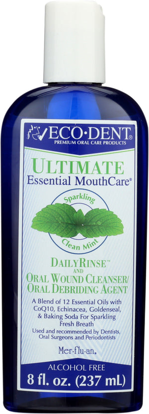 Eco Dent: Mouthwash Daily Rinse Mint, 8 Oz