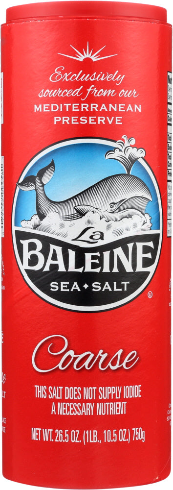 La Baleine: Sea Salt Coarse, 26.5 Oz