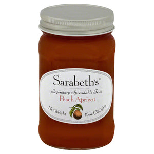 Sarabeths: Fruit Spread Peach Apricot, 18 Oz