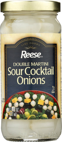 Reese: Double Martini Sour Cocktail Onions, 8 Oz