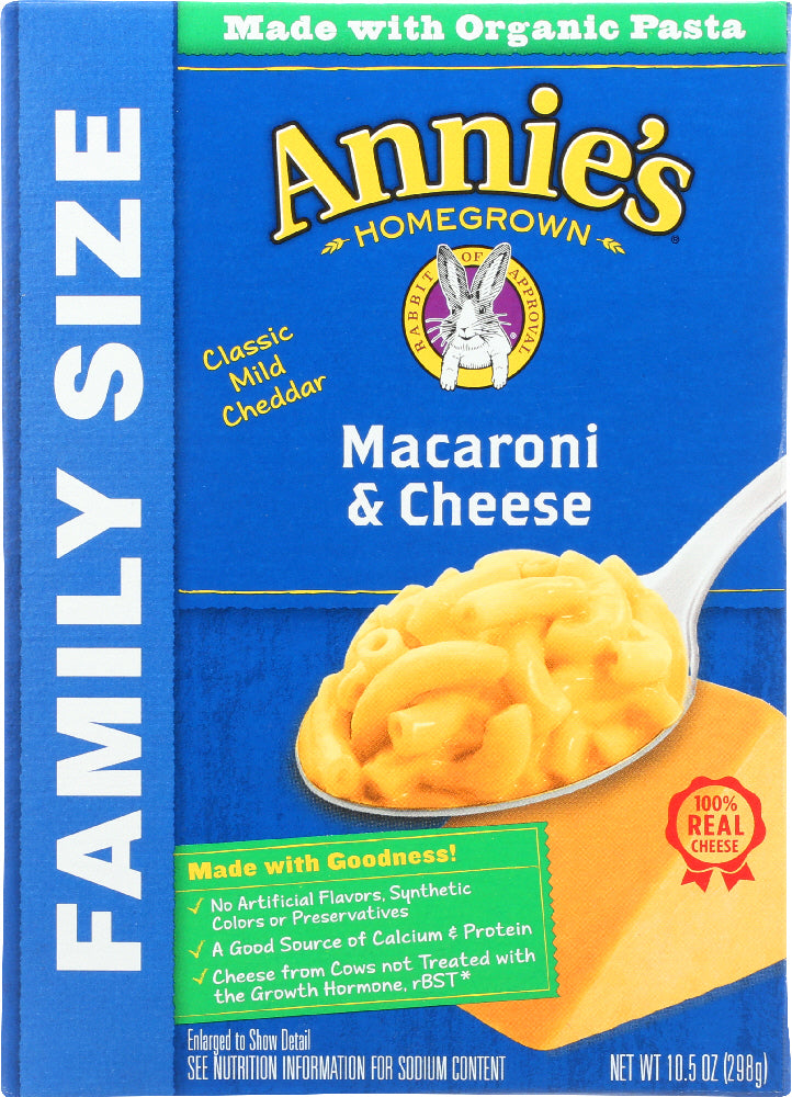Annies Homegrown: Mac And Cheese Classic Macaroni, 10.5 Oz