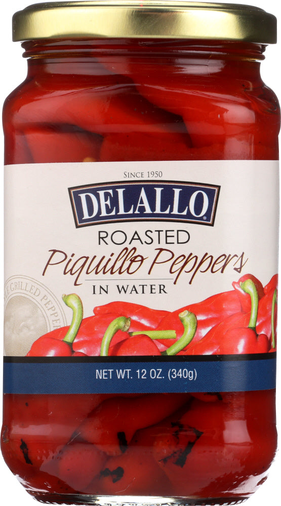 Delallo: Pepper Piquillo Roasted, 12 Oz
