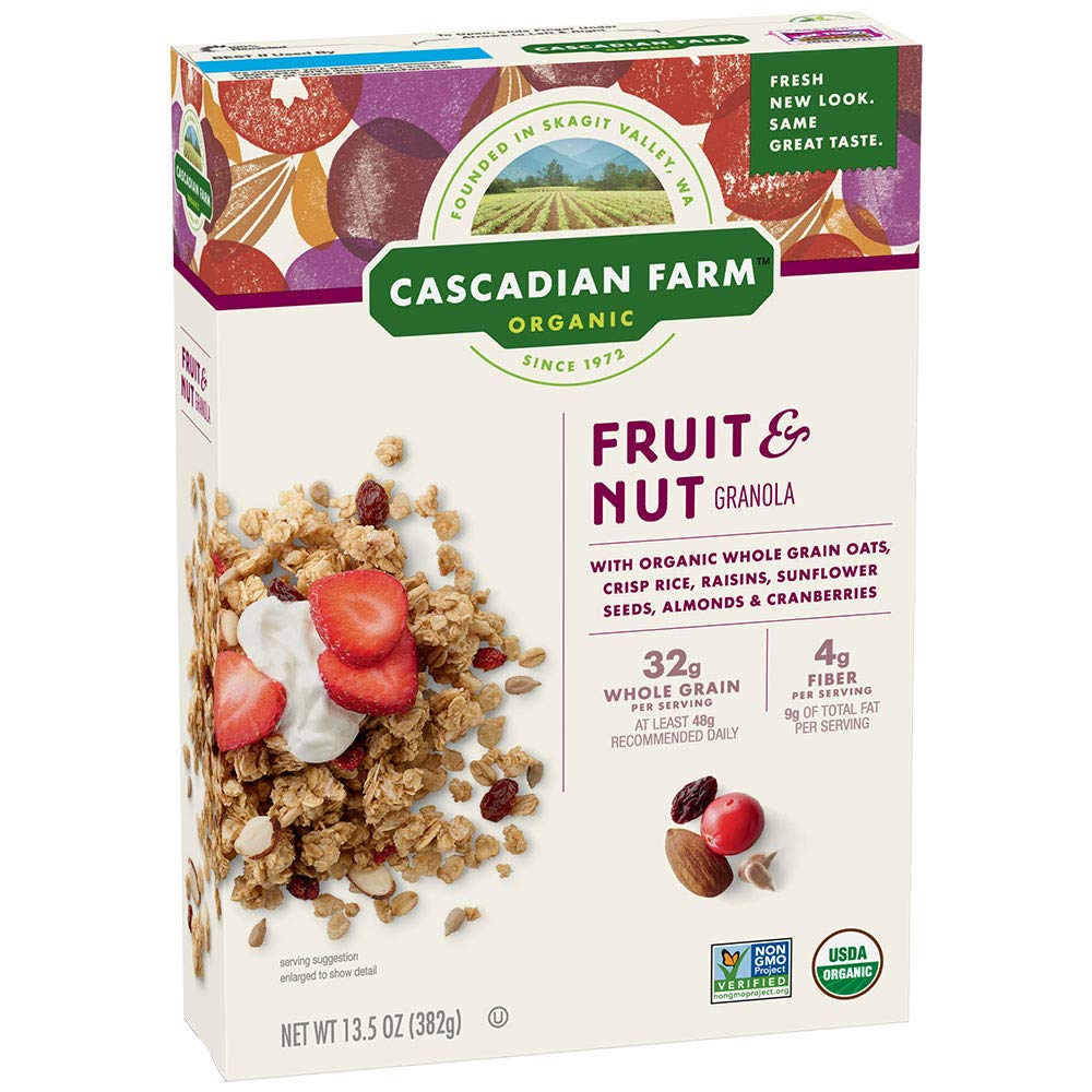 Cascadian Farm: Fruit And Nut Granola, 13.5 Oz