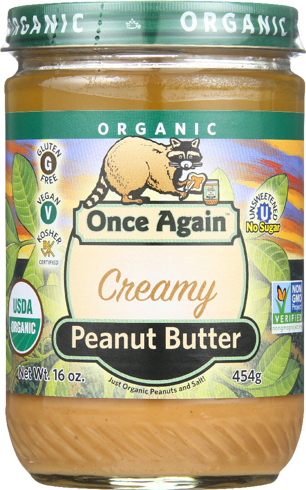 Once Again: Peanut Butter Smooth Organic, 16 Oz