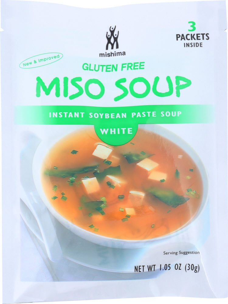 Mishima: Miso Soup Instant Soybean Paste White, 1.05 Oz