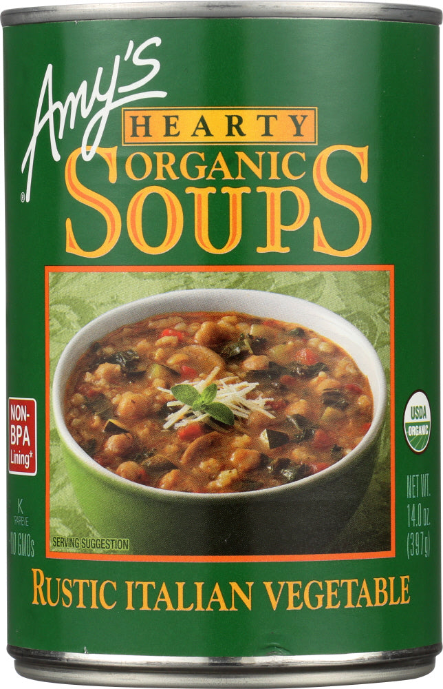 Amys: Soup Vegetable Gluten Free, 14 Oz