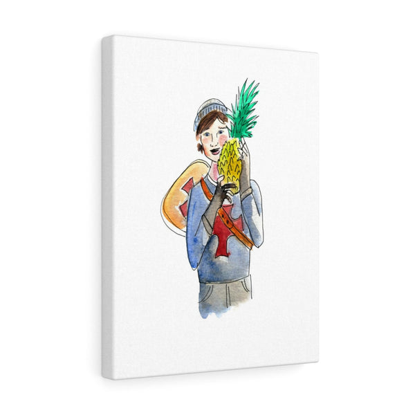 Knight with Pineapple Canvas Art Print