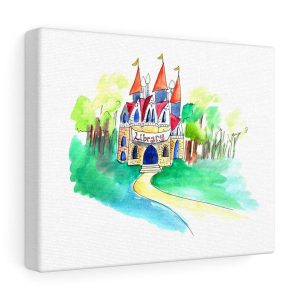 Library Canvas Art Print