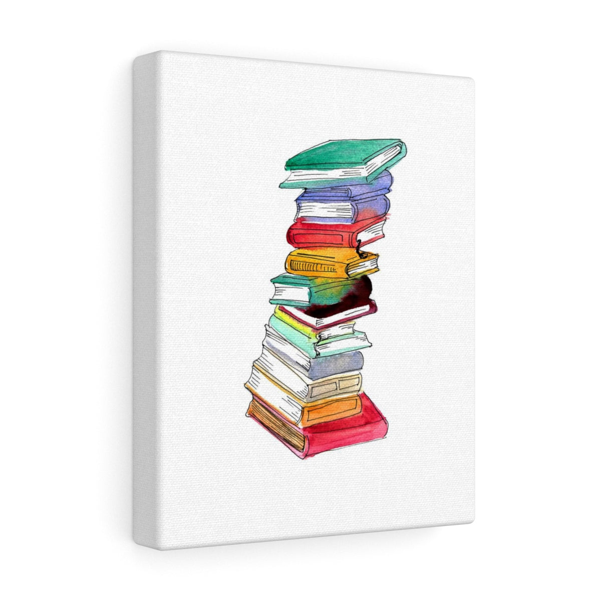 Book Stack Canvas Art Print
