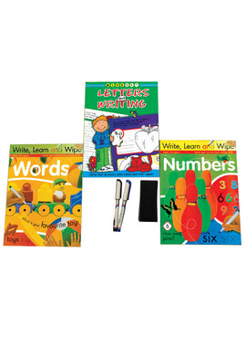 Write, Learn and Wipe (3 Books Set)