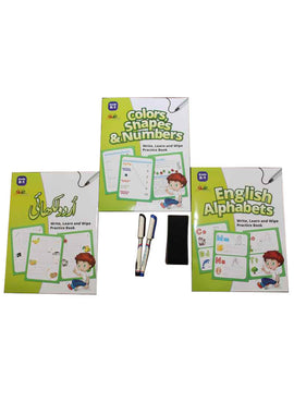 Practice Books - Write, Learn and Wipe (3 Books Set)